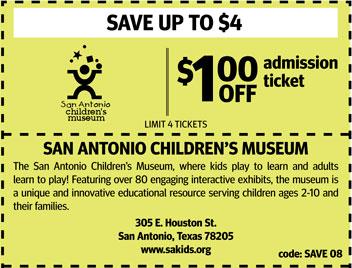 coupons san antonio childrens museum