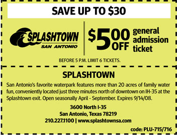 Splashtown coupons san antonio 2018
